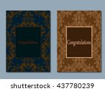 set booklets templates.... | Shutterstock .eps vector #437780239