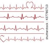 abstract heart beats cardiogram ...   Shutterstock . vector #437780713