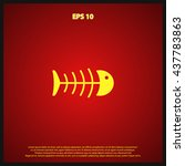 fish bone icon   Shutterstock .eps vector #437783863
