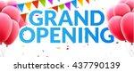 grand opening event invitation...   Shutterstock .eps vector #437790139