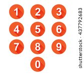 number icons | Shutterstock .eps vector #437792683