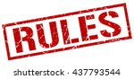 rules stamp.stamp.sign.rules. | Shutterstock .eps vector #437793544