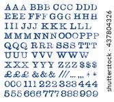 rubber stamp type set vector | Shutterstock .eps vector #437804326