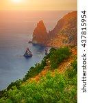 fiolent   crimea   sea... | Shutterstock . vector #437815954