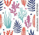 marine plants background.... | Shutterstock .eps vector #437819464