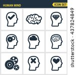 icons set premium quality of... | Shutterstock .eps vector #437824849
