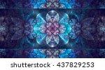 Abstract Fractal  Blue Mosaic...