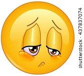 sorrow and sad emoticon | Shutterstock .eps vector #437837074