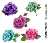 illustration of beautiful... | Shutterstock . vector #437837320