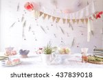 diy decoration for the birthday ... | Shutterstock . vector #437839018
