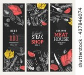 steak house banner collection.... | Shutterstock .eps vector #437846074