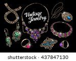 vintage jewelry with gems....