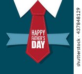 happy fathers day card design... | Shutterstock .eps vector #437848129
