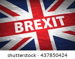 united kingdom exit from europe ... | Shutterstock . vector #437850424