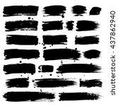 set of brush strokes. vector... | Shutterstock .eps vector #437862940