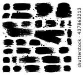 set of brush strokes. vector... | Shutterstock .eps vector #437863213