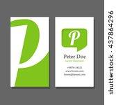 modern business card template ... | Shutterstock . vector #437864296