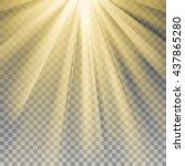 yellow sun rays. warm orange... | Shutterstock .eps vector #437865280