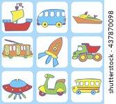 cute seamless baby pattern. set ...   Shutterstock .eps vector #437870098