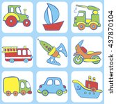 cute seamless baby pattern. set ...   Shutterstock .eps vector #437870104