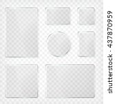 glass plates set. square shape  ... | Shutterstock .eps vector #437870959