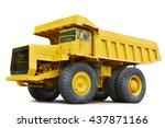yellow dumper industrial truck...