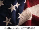 old american flag background... | Shutterstock . vector #437881660