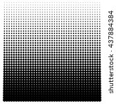 halftone square decreases up on ... | Shutterstock .eps vector #437884384