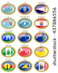 set of icons. flags of... | Shutterstock .eps vector #437886556