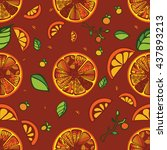 oranges background | Shutterstock .eps vector #437893213