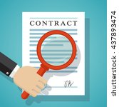 contract inspection concept.... | Shutterstock .eps vector #437893474