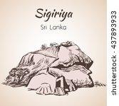 rock fortress sigiriya  sri...   Shutterstock .eps vector #437893933