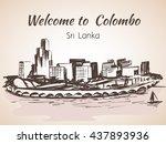 sri lanka  modern colombo city... | Shutterstock .eps vector #437893936