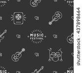 music festival seamless pattern ... | Shutterstock .eps vector #437898664