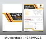 yellow business technology... | Shutterstock .eps vector #437899228