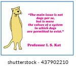cat cartoon asking why do dogs...   Shutterstock . vector #437902210