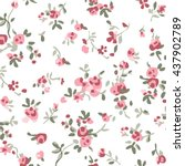ditsy pastels floral print  | Shutterstock .eps vector #437902789