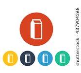 vector illustration of milk icon
