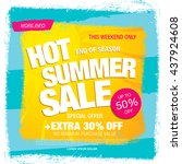 hot summer sale template banner | Shutterstock .eps vector #437924608
