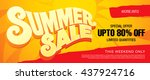 summer sale template banner | Shutterstock .eps vector #437924716