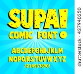 creative high detail comic font.... | Shutterstock .eps vector #437940250