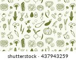 vegetables graphic vector line... | Shutterstock .eps vector #437943259
