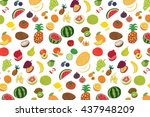 fruits graphic vector color... | Shutterstock .eps vector #437948209