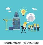 implementation ideas architect. ... | Shutterstock . vector #437950630