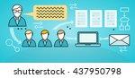 corporate business workflow... | Shutterstock . vector #437950798