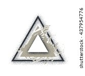 triangle illustration. vector...   Shutterstock .eps vector #437954776
