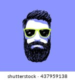 hipster fashion bearded man... | Shutterstock .eps vector #437959138