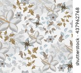 vector seamless pattern flowers | Shutterstock .eps vector #437962768
