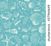 Seamless Pattern With Seashell...