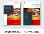 brochure design. corporate... | Shutterstock .eps vector #437968588